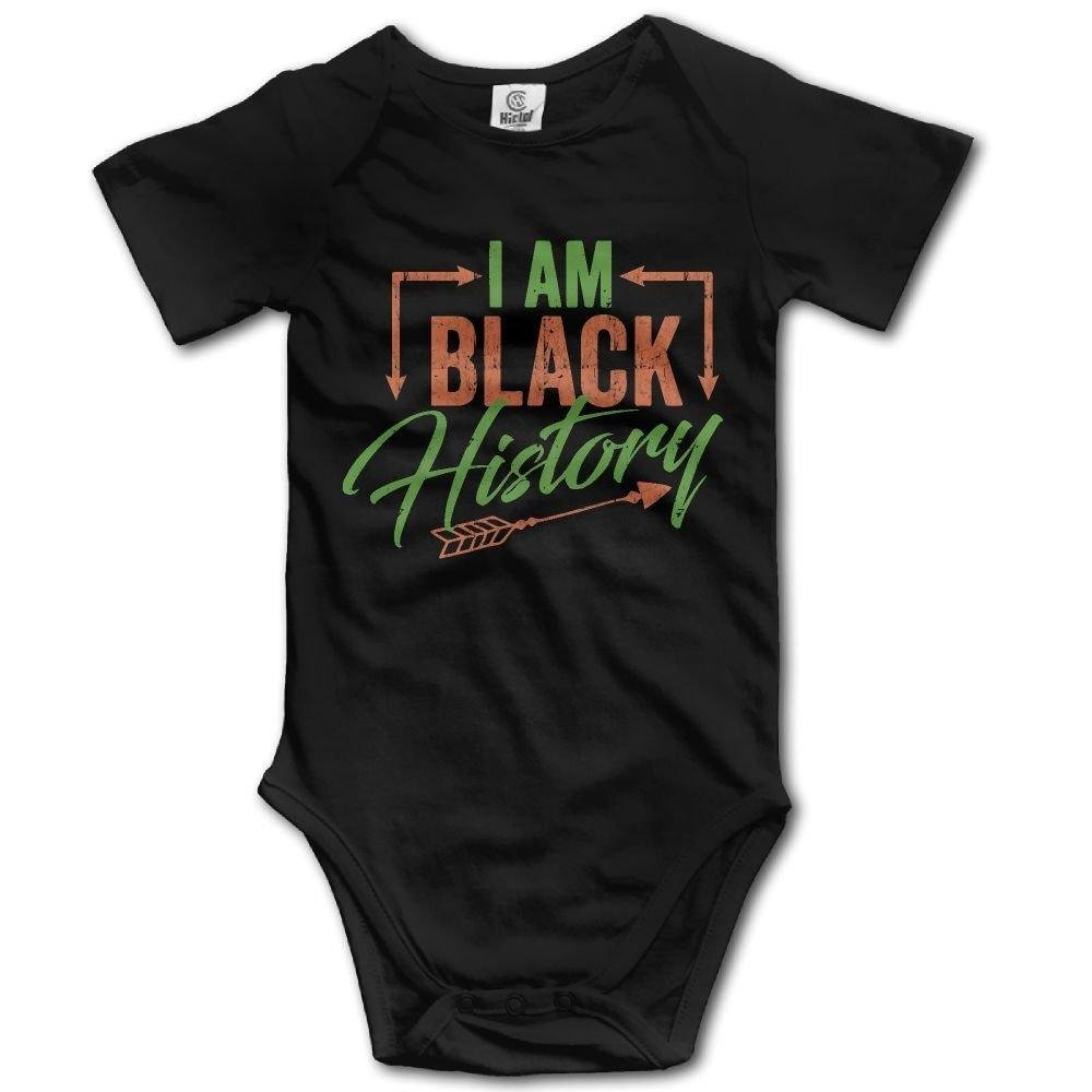 Newborn Infant I Am Black History Arrow Short Sleeve Romper Onesie Bodysuit Jumpsuit