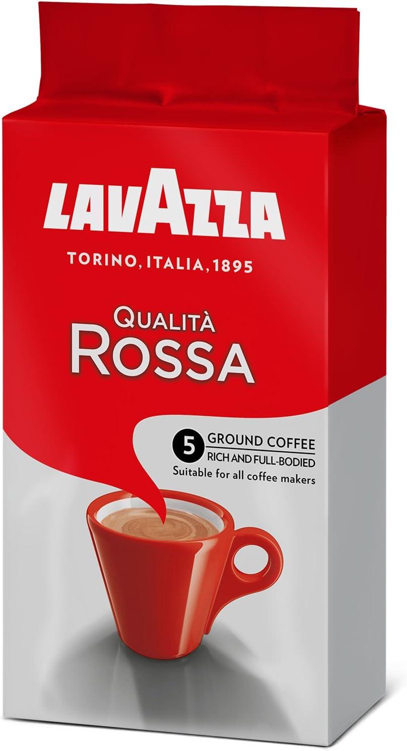 Lavazza Qualità Rossa, Café Molido, 250g, también para Cafeteras ...