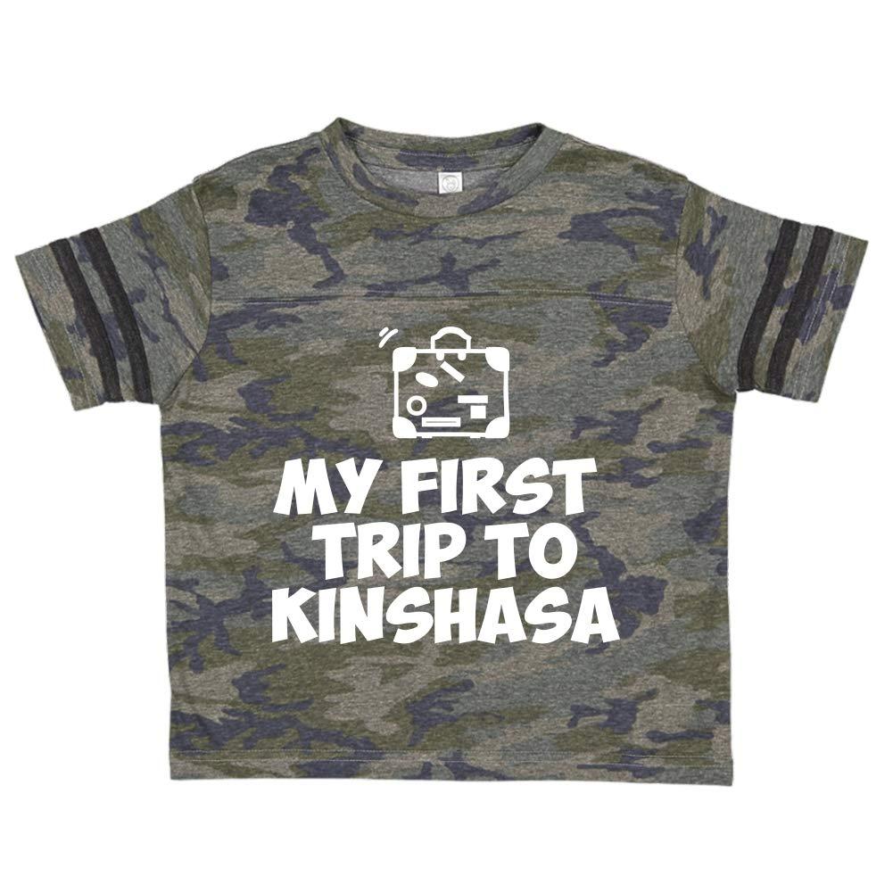 Toddler//Kids Sporty T-Shirt Mashed Clothing My First Trip to Kinshasa