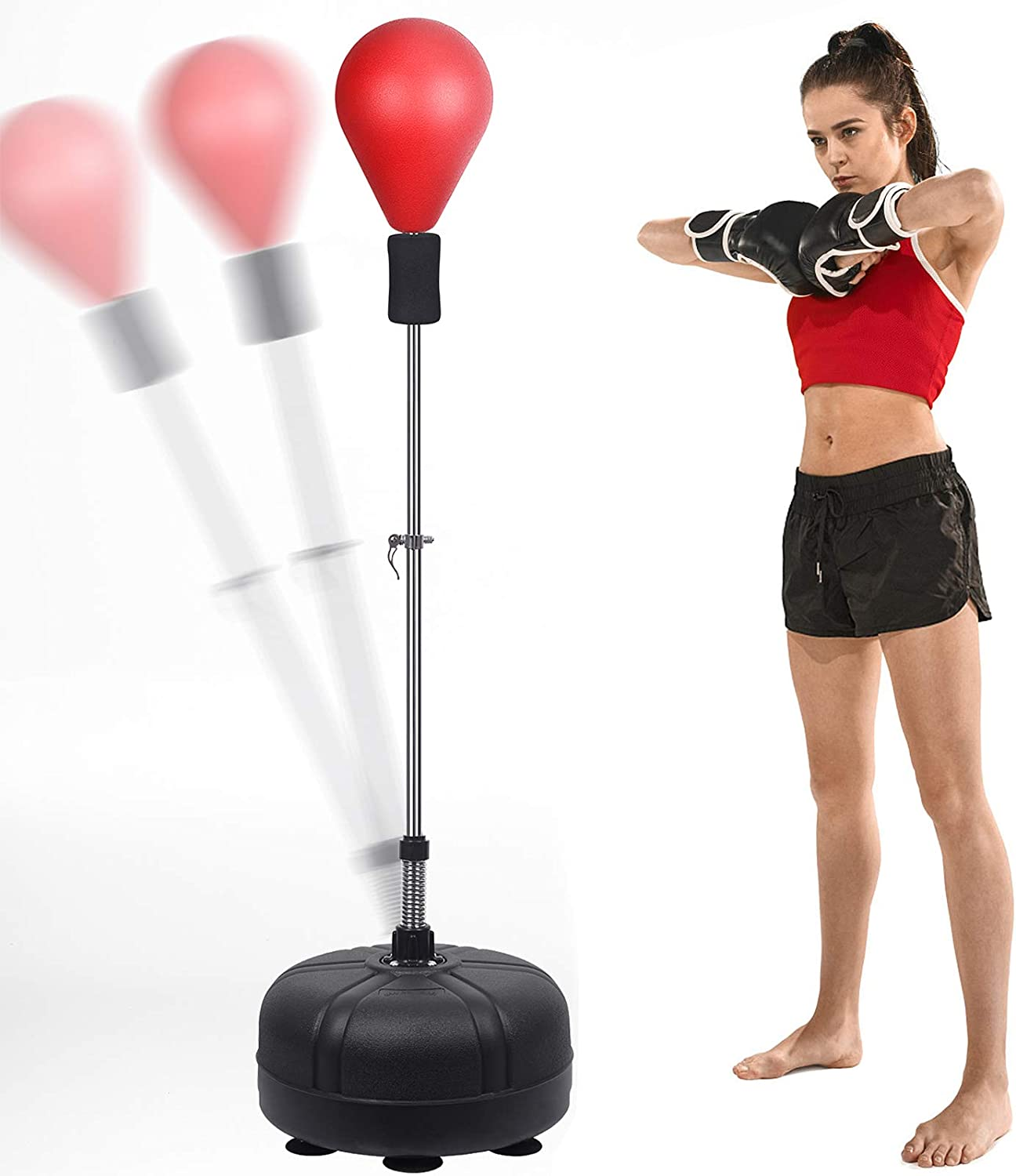 Amazon.com : Mdikawe 53In-62In Adjustable Height Boxing Bag, Adult/Child  Training Boxing Suit, Quick Recovery Speed Ball, Standing Air Pump with  Base, Suitable for Fitness and Decompression. : Sports & Outdoors