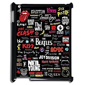 K-G-X Phone case For Ipad 2/3/4 Case Case-Pattern-11 Love Music Protective Back Case