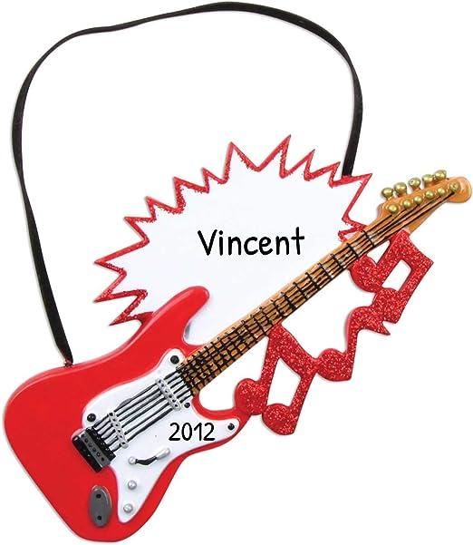 Adorno de Navidad para guitarra eléctrica personalizada para árbol ...