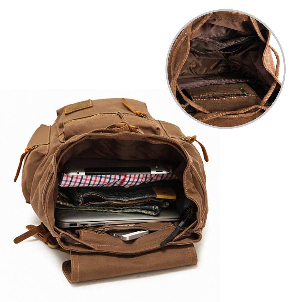 3a7c5ad228d73 KIPTOP Nylon Vintage Rucksacke Laptoprucksack Damen Herren Schulrucksack  Retro Backpack für Campus Studenten und Outdoor Reisen