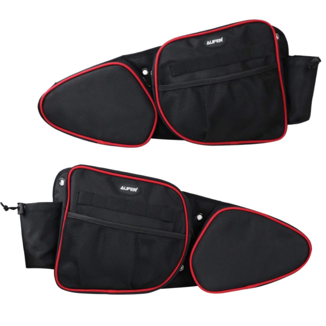 Front Door Side Storage Bag Door bags with Knee Protection For 2014-2020 UTV Polaris RZR XP Turbo Turbo S 1000 S900