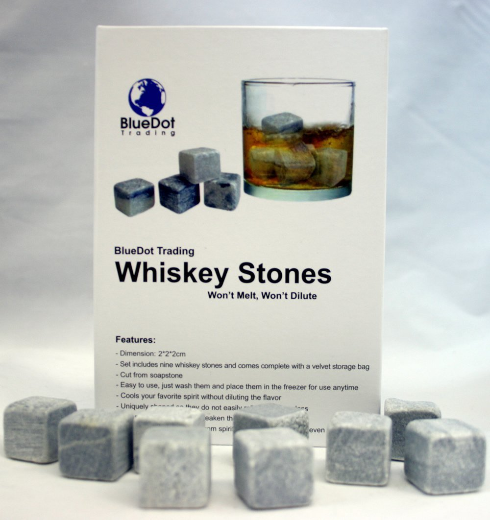 Whisky piedras caja Set ~ 9 Piedras con terciopelo bolsa de ...