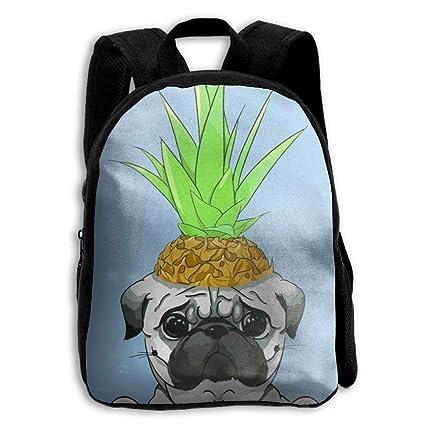 Amazoncom Funny Cute Pug Pineapple Student Backpack School