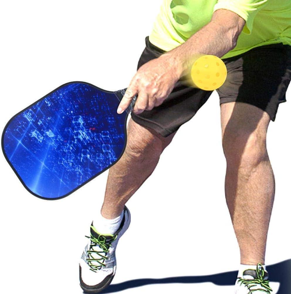 VGEBY Pickleball Paddle Set Approuv/é Pickleball Paddles avec Surface en Fibre de Carbone Pickleball Rackets Set Paddle Ball Game Set Training Sport Equipment