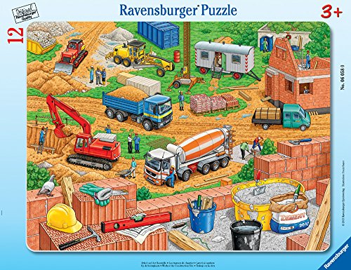 t The Construction Site - Jigsaw Puzzle for Kids – Every Piece is Unique, Pieces Fit Together Perfectly ()