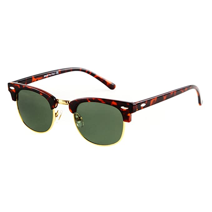 151a4fa04dc Amazon.com  Flowertree Unisex Rs5141 Browline 47mm Sunglasses ...