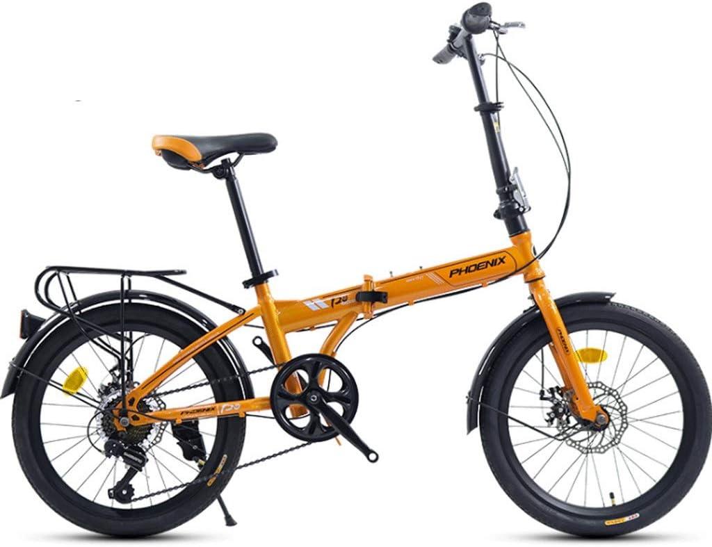 Weiyue Bicicleta Plegable- Bicicleta Plegable de 20 Pulgadas for ...