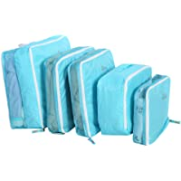 5Pcs/Set Travel Storage Bags Luggage Packing Pouchs Cubes Organizers Multi-functional Clothing Sorting Packages