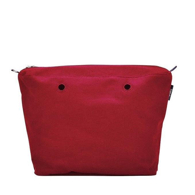 5e4baae716 O bag sacca interna canvas e nastro - Rosso: Amazon.it: Abbigliamento