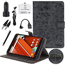 EEEKit 7 Items Starter Kit for NeuTab G7 / Air7 BlackBerry PlayBook 7 Tablet,Folio Stand Cover Case,OTG Card Reader,OTG Cable,Audio Cable,Car Charger/Mount,Earphone
