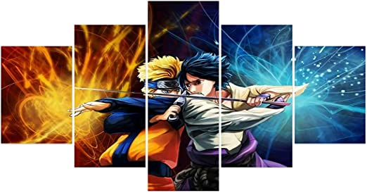 "Naruto v.s Sasuke poster wall art home decor photo print 24x24/"" inches"
