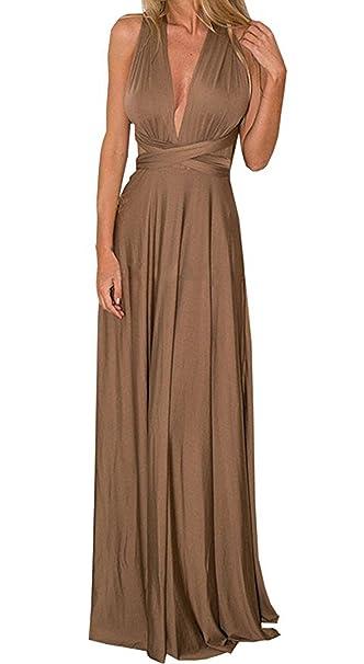 Mujer Verano Maxi Largo Vestidos de Cóctel Beachwear Piso-longitud Multi-way Dresses Vestido