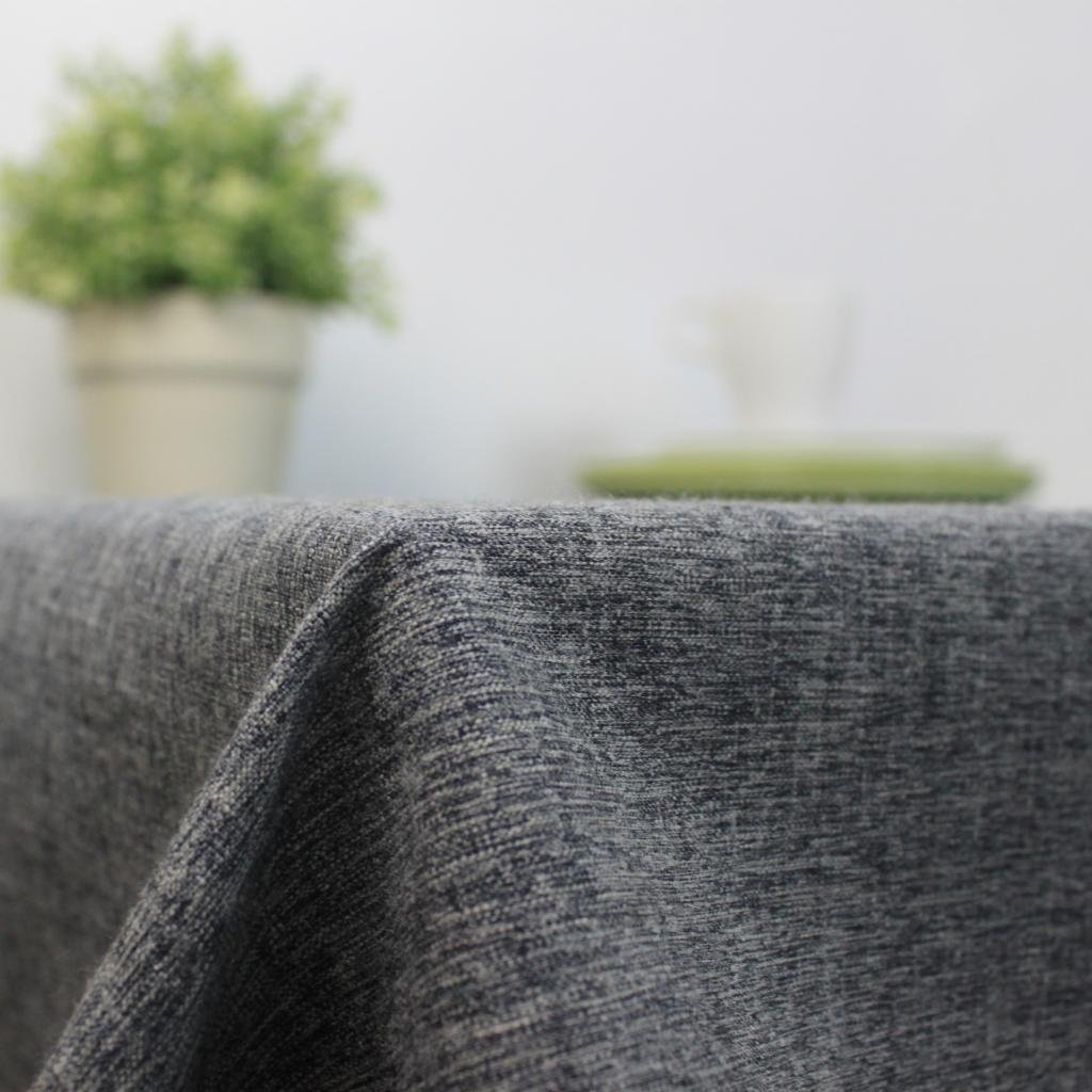 Cotton and Linen, Machine Washable, Everyday Chambray Kitchen Tablecloth For Dinner Parties, Summer & Outdoor Picnics(Gray,55x70.7In) by LINENLUX (Image #1)