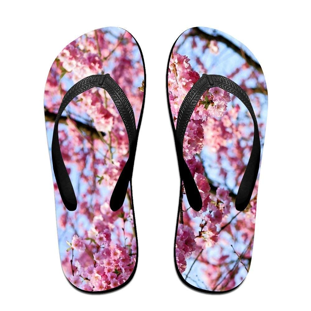 Custom Summer Pink Bloom Plum Heather Womens Sandals Beach Sandals Pool Party Slippers Flip Flops