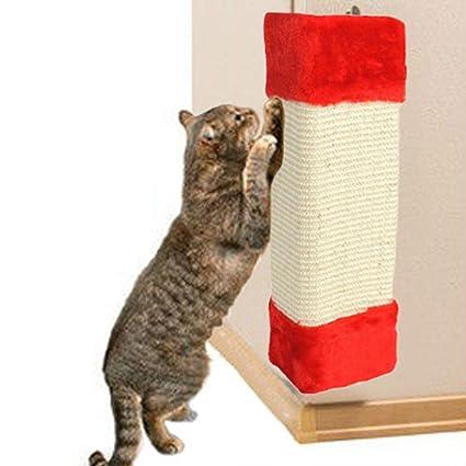hkfv excelente único impresionante diseño gatos divertidos juguetes gato mascota esquina Sisal Rascador de pared gatos
