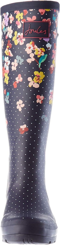 Joules Welly Print, Botas de Lluvia para Mujer Flor de La Marina mgc0Q