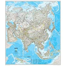 National Geographic: Asia Classic Wall Map - Laminated (33.25 x 38 inches) (National Geographic Reference Map)