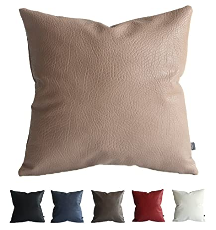 Amazon Kdays Faux Leather Elephant Beige Pillow Cover Throw