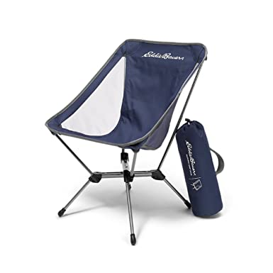 Eddie Bauer Unisex Adult Packable Camp Chair, Med Indigo Regular ONESZE