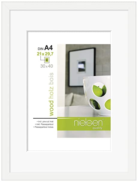 Nielsen Apollo White 40 x 50 cm Wooden Picture Frame: Amazon.co.uk ...