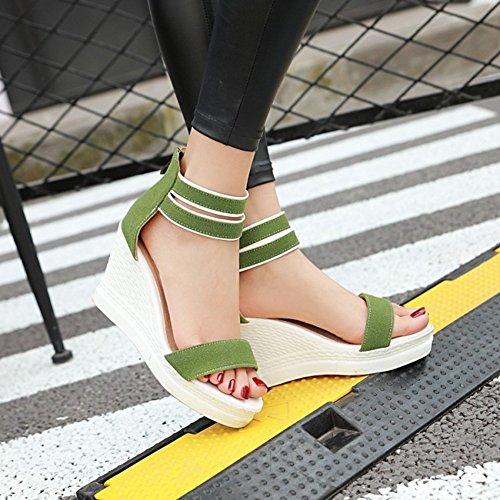 Sandali Con Zeppa Coi Tacchi Posteriori Con Cinturino Alla Caviglia Per Donna Easyemax