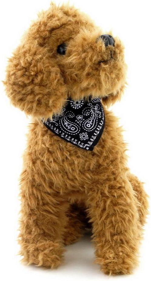 Zunea Collar de perro peque/ño y gato tri/ángulo bandana estilo pa/ñuelo pa/ñuelo ajustable estampado cachorro bufanda collar aleatorio
