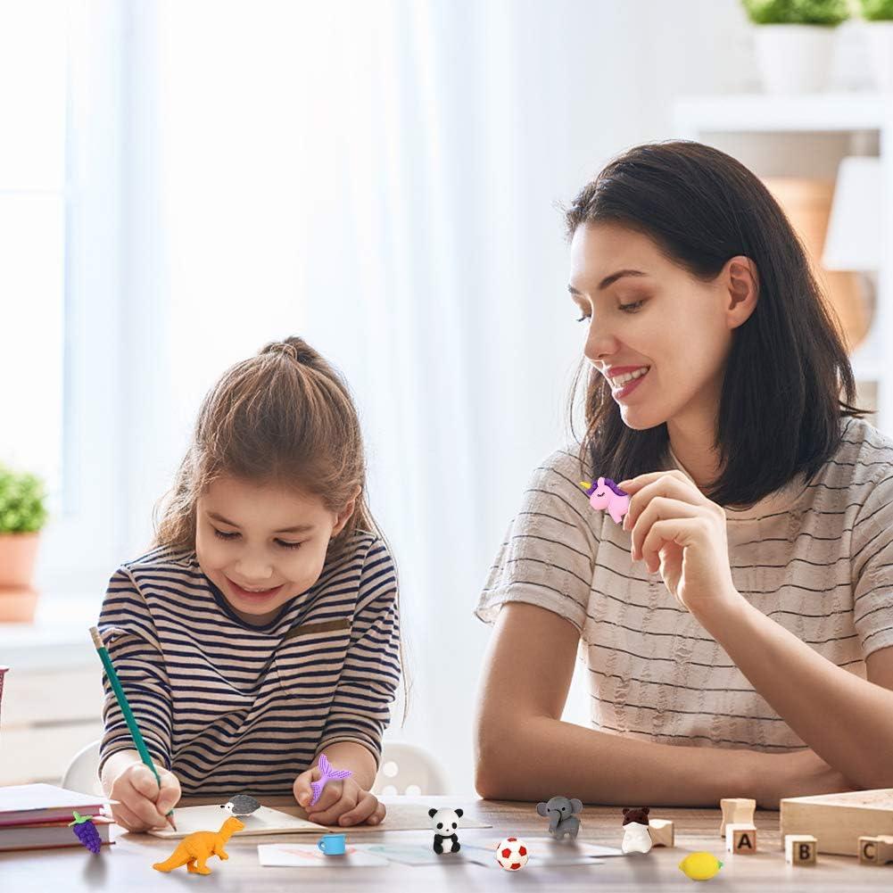 3 otters 75PCS Mini Puzzle Eraser Take Apart Erasers Fruit and Vegetable Eraser Pencil Erasers for Kids Classroom Prizes Homework DIY Toys
