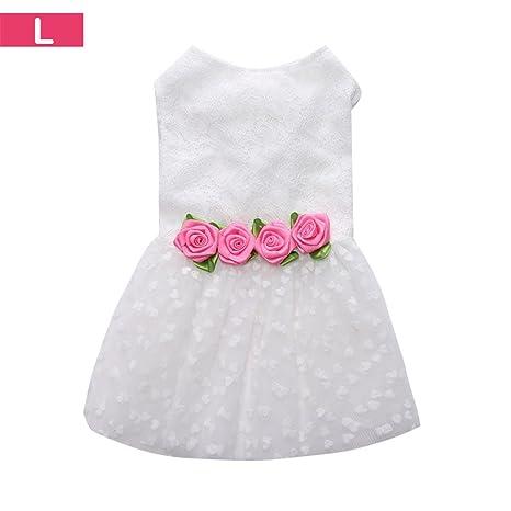 Yunt Blanco vestido de novia Rock Dress Disfraz Para Mascotas Perros Gatos
