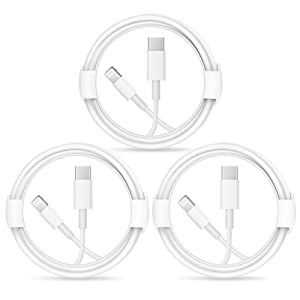 iPhone Fast Charger Cable【Apple MFi Certified】3-Pack USB-C to Lightning Fast Charging Cable(6.6Ft) Compatible with iPhone 12/12 Mini/12 Pro/12 Pro Max/11/11 Pro/11 Pro Max/Xs Max/XR/X, iPad and More