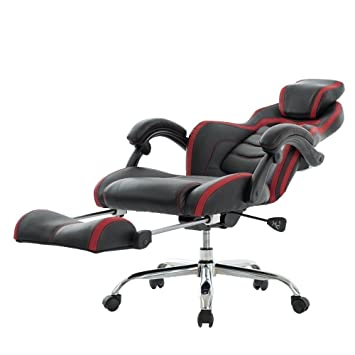 VIVA OFFICE Fashionable High Back Bonded Leather Racing Style Recliner Gaming Chair with Footrest  sc 1 st  Amazon.com & Amazon.com: VIVA OFFICE Fashionable High Back Bonded Leather ... islam-shia.org