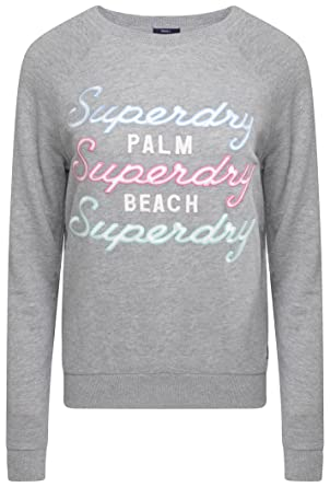 finest selection ad2a7 cdc31 Superdry Damen Pullover Grau grau Gr. 40, grau: Amazon.de ...