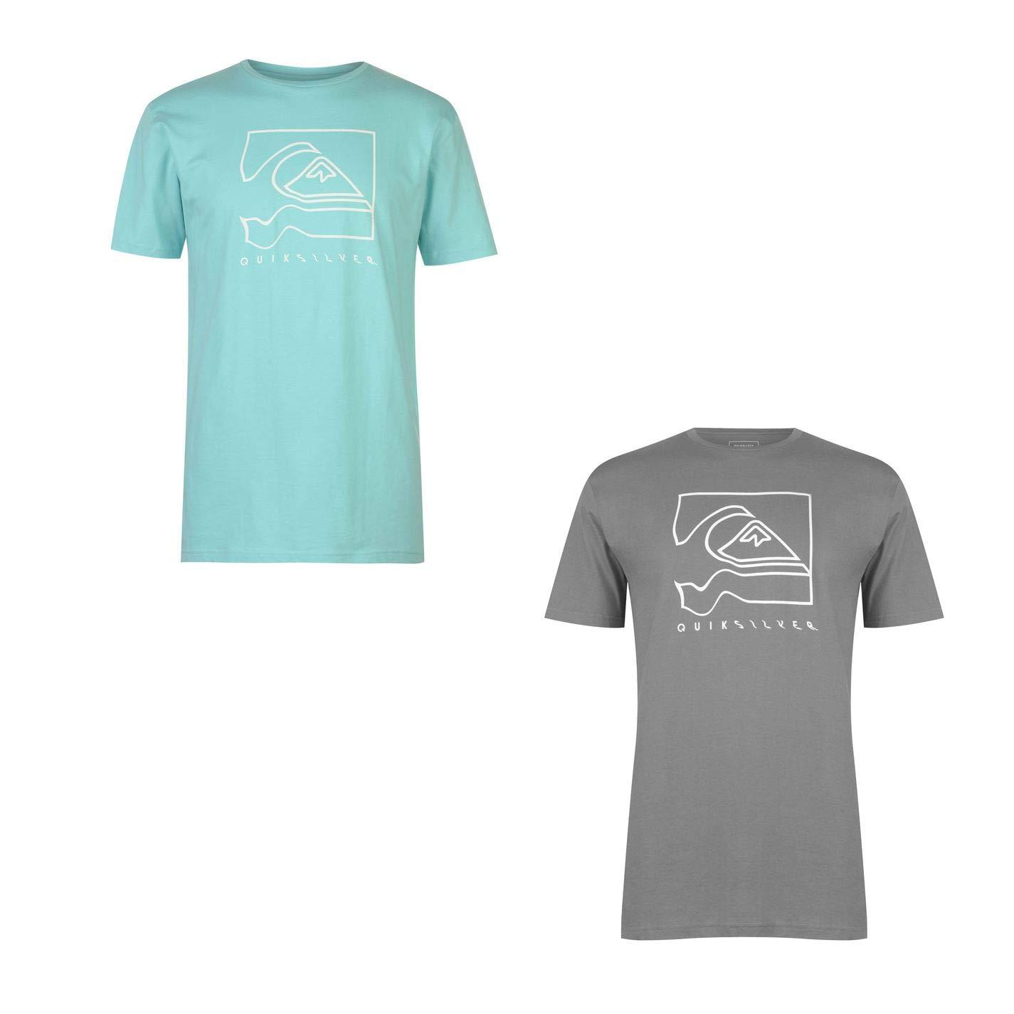 Quiksilver Distortion Logo T-Shirt Mens Top Tee Shirt Shade Small