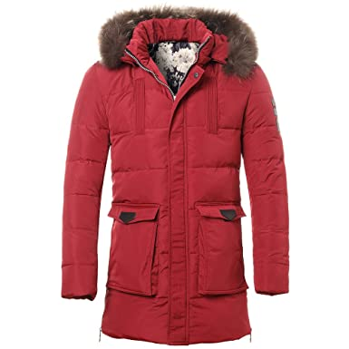 English Laundry Mens Hooded Parka with Bib