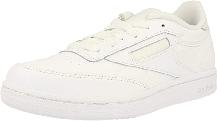 enchufe límite En consecuencia  Amazon.com | Reebok Classic Club C White/Iridescent Leather Junior Trainers  Shoes | Shoes