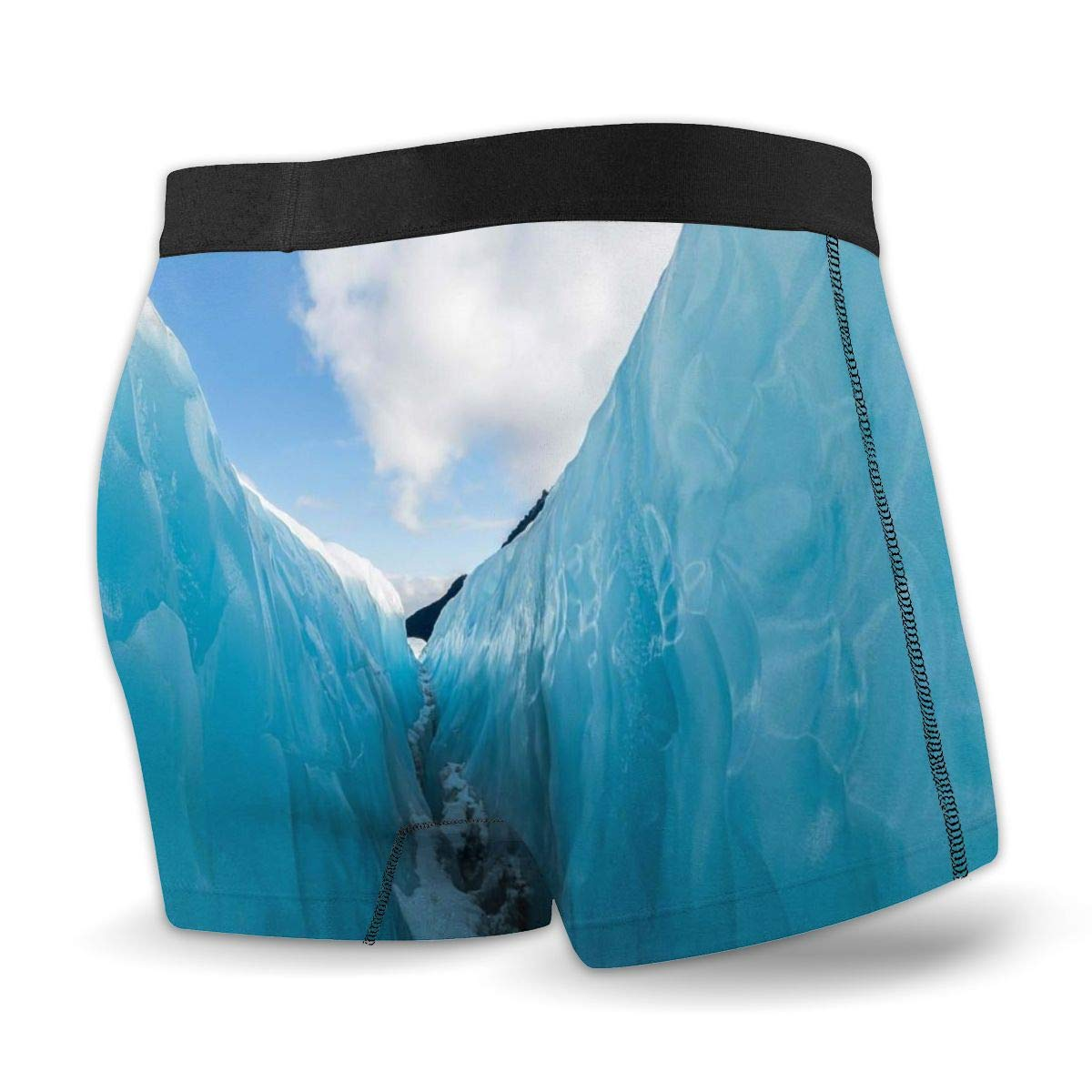 Nature Frozen Ice Mountains in North South Mens Sport Panties Cool Boxer Briefs Underwear