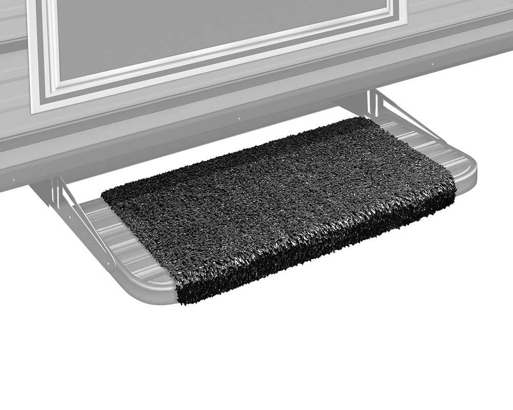 Wide Prest-O-Fit 2-1043 Wraparound RV Step Rug Stone Gray 18 In