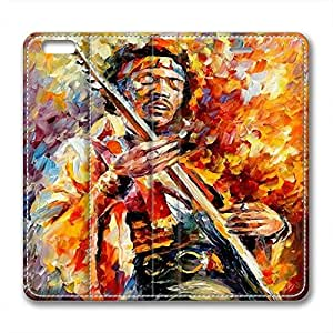 James Marshall Jimi Hendrix Personalized Design Leather Case for Iphone 6 Music