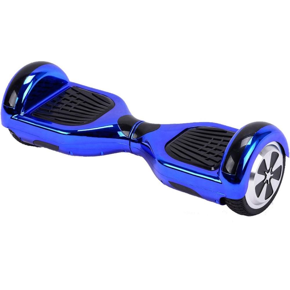 UL2272 Certified Bluetooth Capable Smart Self Balancing Hoverboard Personal Adult Transporter with LED Light- Chrome Blue by Self Balance Scooter