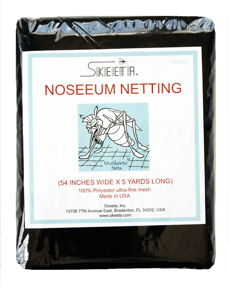 Mosquito (No-see-um) Netting Fabric By Skeeta 54'' Wide X 5 Yards - Olive