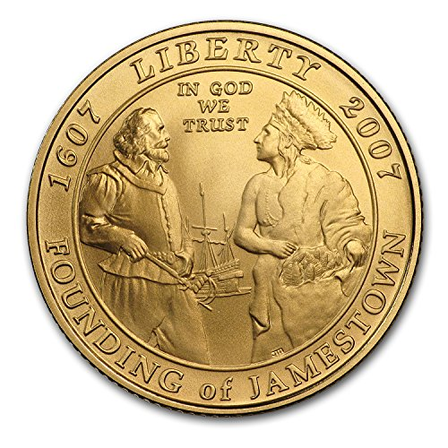 2007 W Gold $5 Commem Jamestown BU (w/Box & COA) 5 Brilliant Uncirculated ()