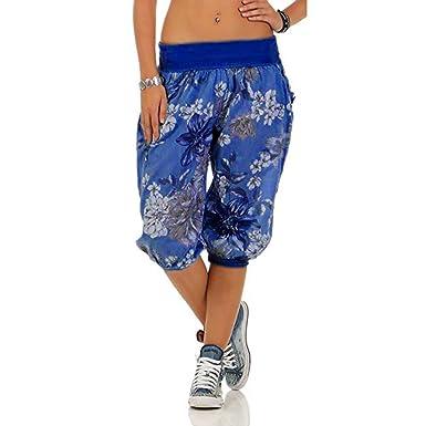 LEvifun Pantalones Mujer Yoga y Pilates Señoras 3/4 Estilo Capri Pantalones Harén Pantalones Cortos De Verano De Yoga hasta La Rodilla Moda Pantalones