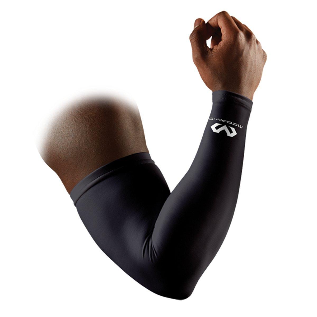 McDavid Pair Compression Reflective Arm Sleeves, Small, Ultra Black