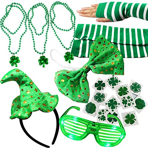 Joyin Toy 20 Pieces Girl's ST. Patrick's Day Dressing-up accessories Party Favors (Dressing Up Costumes Adults)