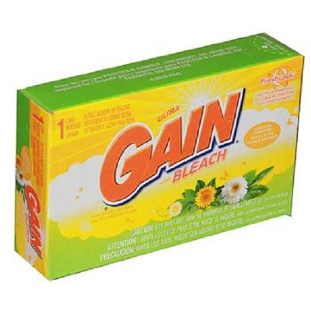 Amazon.com : Gain Ultra Bleach Laundry Detergent 1 Load Powder, 1 Count (LAUNDRY DETERGENT -POWDER/SOAP) : Grocery & Gourmet Food