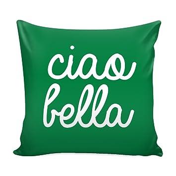 Amazon.com: Funda de almohada con inserto de Italia - Ciao ...