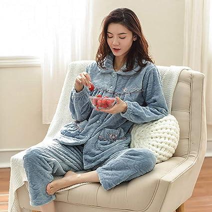 WANG-LONG Ropa De Dormir Batas Mujer Camisón Mujer Ropa De Dormir Conjunto De Pijamas