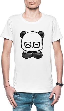 Friki Elegante Panda Hombre Camiseta Blanco Todos Los Tamaños - Mens T-Shirt White: Amazon.es: Ropa y accesorios